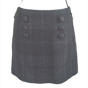 J. Crew gray wool mini skirt size 6. F5
